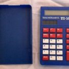 Texas Instruments TI-108 Hand Held Basic Pocket Solar Calculator Red White Blue