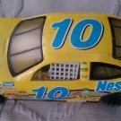 "1999 NASCAR racing Die Cast Nesquik #10 race car yellow metal 8.5"" long Mattel"