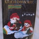 """VINTAGE Graph N Latch Roly Poly Stocking Pair LATCH HOOK RUG KIT 7.75"""" x 11.5"""""""