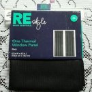 """RE Style Room Essentials One Thermal Window Panel Curtain Flocked Black 42""""x63"""""""