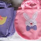 VTG NWT Lot 12 EASTER Chicks & Bunnies Shopping Bags Totes Candy Basket Spring