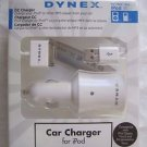 Dynex Car Charger for IPod Classic / Touch / 3rd Generation Nano