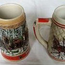 Lot of 2 Numbered Avon Large Steins BUDWEISER Beer A/C Series Ceramarte Brazil