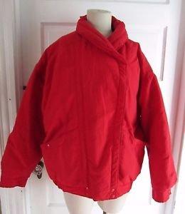 Vintage Womens Woolrich Woman Down Shawl Collar Puffer Ski Jacket Parka sz L USA