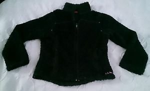 Womens LL Bean full zip up super shaggy fuzzy fleece polartec Coat Jacket small