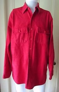 Vintage LL BEAN Signature Flap Pocket Chamois Cloth Work Hunting Camping Shirt M