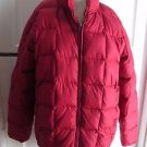 Womens M Eddie Bauer Goose Down Quilted Zip Up Winter Snow Puffer Parka Jacket