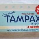 Vintage 1978 New Slender Tampax Tampons Trial Package USA Movie Prop Advertising