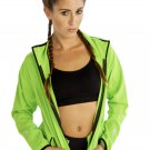 Full-Sleeve Fitness Jacket for Women in Vibrant Green