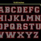 """2.1"""" 2 color Alphabet Collegiate Rhinestone Flock Template"""