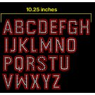 1.8 Inch High 2 color Impact Alphabet Rhinestone Flock Template
