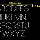1.9 Inch High Venge Alphabet Rhinestone Flock Template