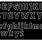 1.8 Inch High Revue  Alphabet Upper & Lower  Rhinestone Flock Template