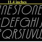 VR1R 1.9 Inch High Alphabet Deco Rhinestone Flock Template