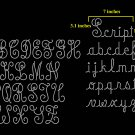 VR1R1 3.1 Inch High Alphabet Upper & 1.8 Inch High Lower Monoscript Rhinestone Flock Template