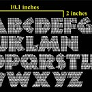 VR1R6 2 Inch High Alphabet Comic Rhinestone Flock Template