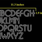 VR2R 1.9 Inch High Alphabet Salsa Rhinestone Flock Template
