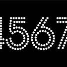 VR2R 1.9 Inch High 0-9 Number Salsa Rhinestone Flock Template