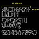 VR2R 1.9 Inch High Alphabet & 0-9 Numbers Salsa Full Rhinestone Flock Template