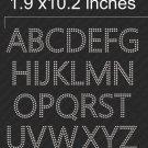 VR2SS10 2 Inch High 2 Row Alphabet  Rhinestone Flock Template