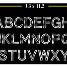 VR 1.5 Inch High 2 Row Alphabet Rhinestone Flock Template