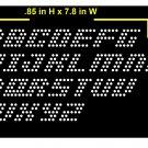 VR 0.85 Inch High Alphabet Ital Rhinestone Flock Template