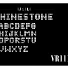 VR111 1.1 Inch High Alphabet Text Rhinestone Flock Template