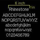 VRR 1.1 Inch High Mini Alphabet Upper & Lower & 0-9 Number Full Rhinestone Flock Template