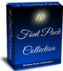 10 FONT PACK COLLECTION