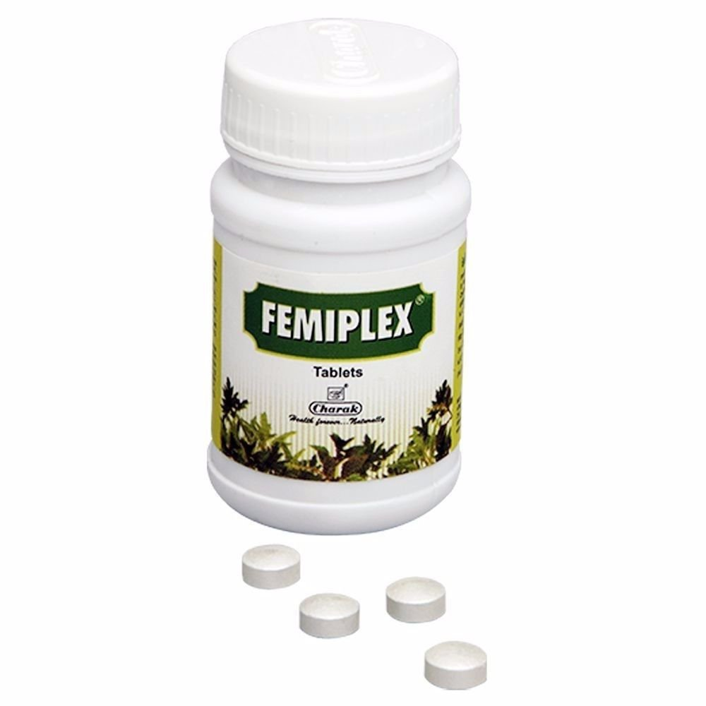 100% Pure Natural Herbals -Charak Femiplex -75 Tablets
