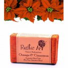 Rustic Art Organic Orange and Cinnamon Soap - All Skin Type -100gm