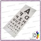 Wall Hanging Eye Exam Test Chart In English Language- New Test Chart Of Snellen