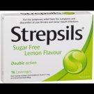 Strepsils Lemon Sugarfree cough pill relieve sorethroat 8 pcs