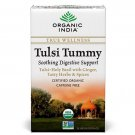 100% Pure  Organic India Tulsi Tummy Tea-18 tea bags-Free Shipping