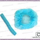 100 Pcs New Disposable Hair Net Cap Non Woven Bouffant Stretch Dust Cap