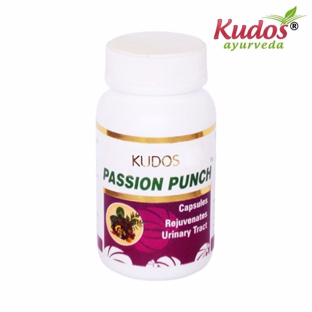 KUDOS Passion Punch Capsules - 60 Capsules - 100% Natural Herbs