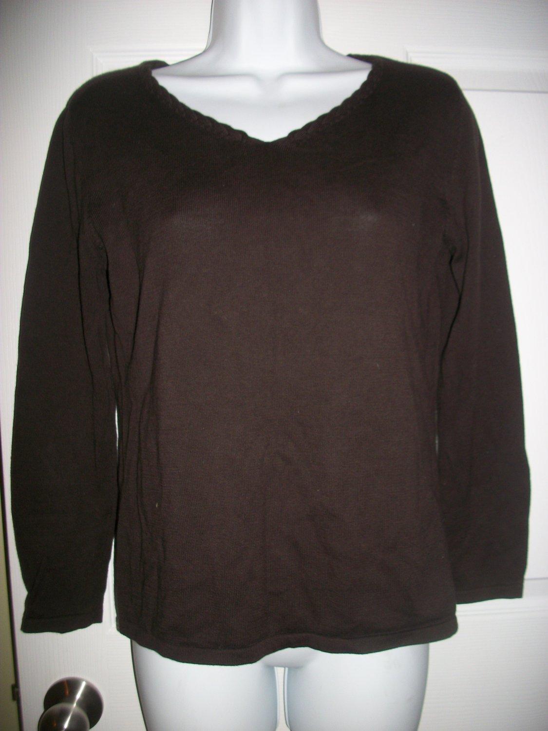 J.. Jill Women's Brown Lightweight Sweater Size S