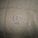 Izod Men's Dark Green Brown Windowpane Sweater Size L