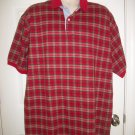 Roundtree & Yorke Men's Red Plaid Short Sleeved Shirt Size XL