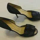 Kate Spade New York black satin heels womens shoes Italy size 10B