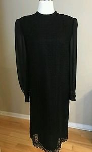 Tailor womens dress size L black