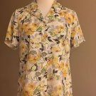 Jaclyn Smith womens button down shirt blouse top size S/C