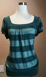 Sugarspice women t-shirt tee top size XL green
