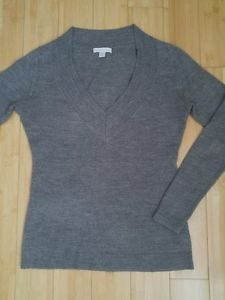 New york & company womens top sweater long sleeve size XS gray