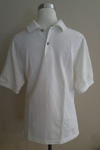 Vintage mens polo shirt tee size S white
