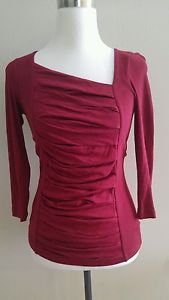 Express womens top tee shirt blouse size XS burgundy B-001