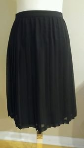 NWT Kathy ireland womens pleated skirt size 16 waist 32 black