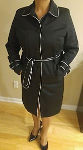 Jaclyn Smith womens jacket coat overcoat size L black