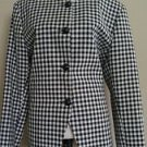 Suit co womens blazer top size 16 black & white checkers