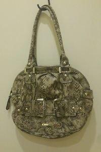Guess womens shoulder handbag snake print